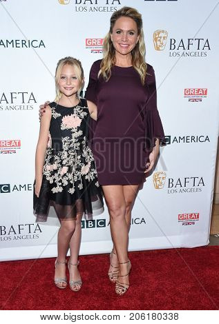 LOS ANGELES - SEP 16:  Alyvia Alyn Lind and Barbara Alyn Woods arrives for the BAFTA TV Tea Party 2017 on September 16, 2017 in West Hollywood, CA