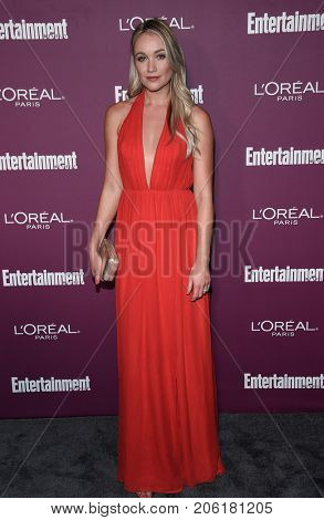 LOS ANGELES - SEP 15:  Katrina Bowden arrives for the Entertainment Weekly Pre Emmy Party on September 15, 2017 in West Hollywood, CA