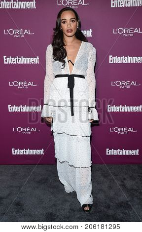 LOS ANGELES - SEP 15:  Cleopatra Coleman arrives for the Entertainment Weekly Pre Emmy Party on September 15, 2017 in West Hollywood, CA