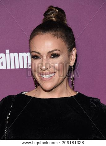 LOS ANGELES - SEP 15:  Alyssa Milano arrives for the Entertainment Weekly Pre Emmy Party on September 15, 2017 in West Hollywood, CA