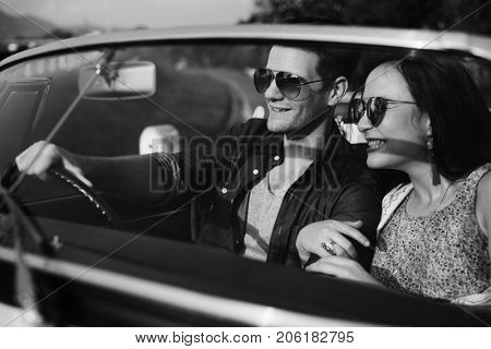 Couple Travel on Road Trip Together