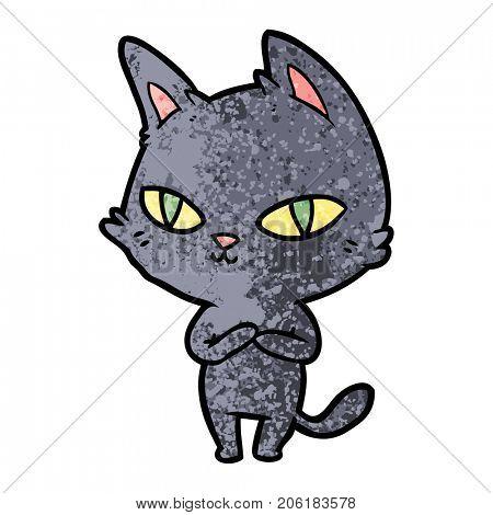 cartoon cat staring
