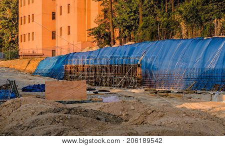 Construction Site Of New Building