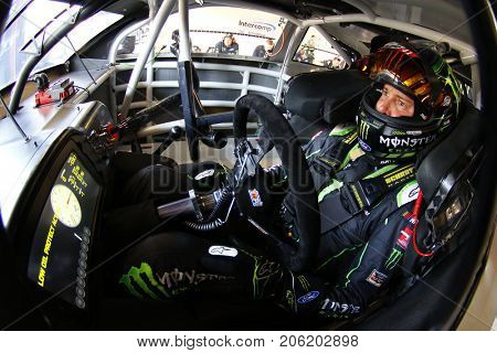 September 15, 2017 - Joliet, Illinois, USA: Kurt Busch (41) straps into his car to practice for the Tales of the Turtles 400 at Chicagoland Speedway in Joliet, Illinois.