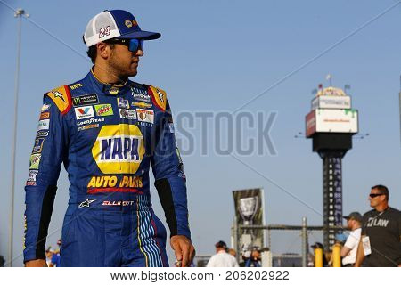 September 15, 2017 - Joliet, Illinois, USA: Chase Elliott (24) hangs out on the grid before qualifying for the Tales of the Turtles 400 at Chicagoland Speedway in Joliet, Illinois.