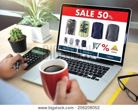 Online Shopping Add To Cart Online Order Store Buy Sale Digital Online Ecommerce Marketing