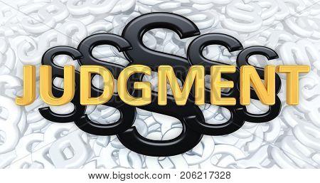 Judgment 3D Illustration