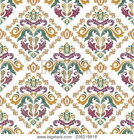 Seamless classic colored pattern. Traditional orient ornament. Classic vintage background