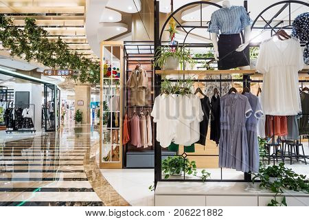 fashion store in modern shopping mall