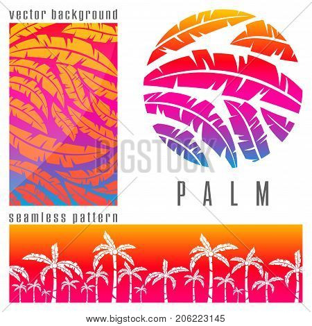 Tropical Palm Tree Pink