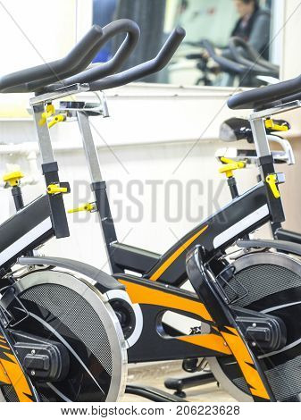 Sport bycicle close up