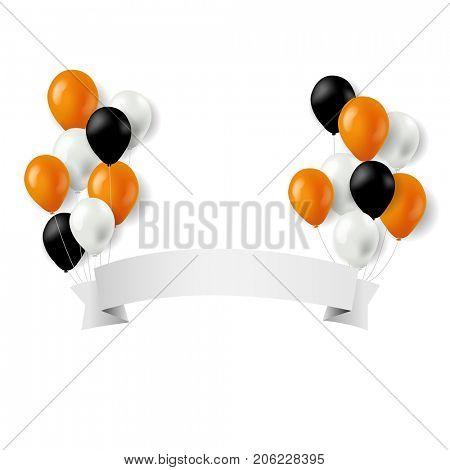 Halloween Balloons And Banner