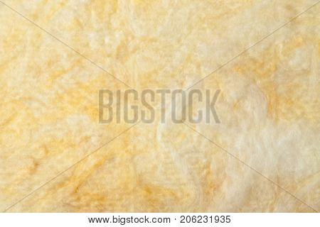 Mineral wool (or mineral fiber, mineral cotton, mineral fibre, glass wool, MMMF, MMVF) fiber thermal insulation batt texture