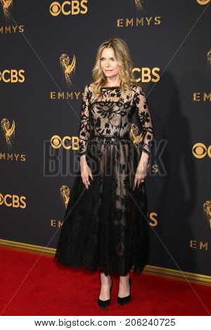LOS ANGELES - SEP 17:  Michelle Pfeiffer at the 69th Primetime Emmy Awards - Arrivals at the Microsoft Theater on September 17, 2017 in Los Angeles, CA