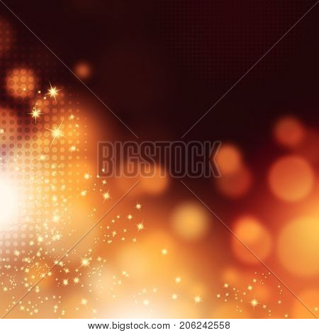 Sparkle background with blurred dazzling bokeh lights - abstract elegant festive texture