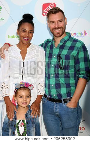 LOS ANGELES - SEP 23:  Marsha Thomason, Tallulah Anai?s Sykes, Craig Sykes at the 6th Annual Red CARpet Safety Awareness Event at the Sony Pictures Studio on September 23, 2017 in Culver City, CA