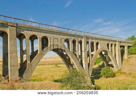 Old concrete bridge in the Palouse area of Washington