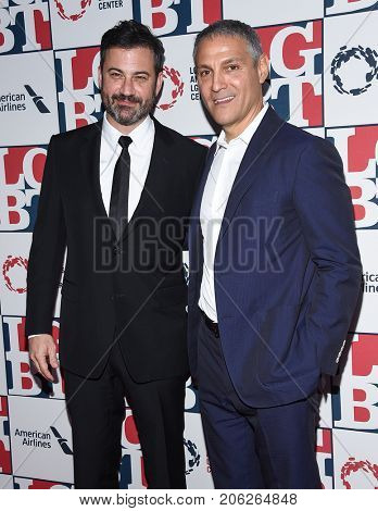 LOS ANGELES - SEP 24:  Jimmy Kimmel and Ariel Emanuel arrives for the LGBT Center's Vanguard Awards 2017 on September 24, 2017 in Beverly Hills, CA