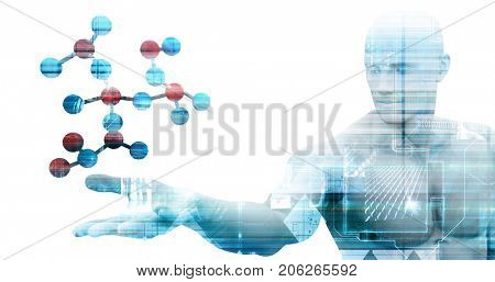 Science Technology Discovery with Company Vision as Art 3D Illustration Render