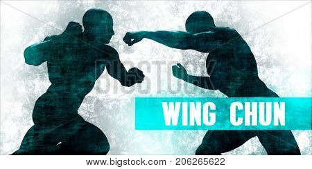 Wing chun Martial Arts Self Defence Training Concept