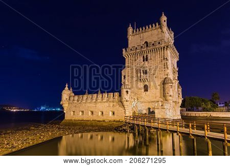 Belem Tower - Lisbon Portugal - architecture background