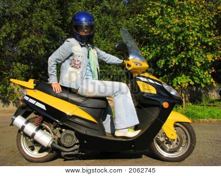 Girl On The Moped