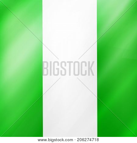 illustration of Nigeria flag background on the occasion of Nigeria National Day