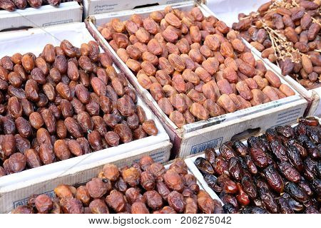 Date palm on a traditional craftsman market.