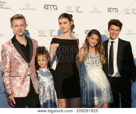 LOS ANGELES - SEP 23:  Guests, Brooke Butler, Annie LeBlanc, Hayden Summerall, at the 27th Environmental Media Awards at the Barker Hangaer on September 23, 2017 in Santa Monica, CA