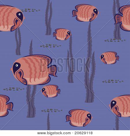 naadloze patroon rode vis