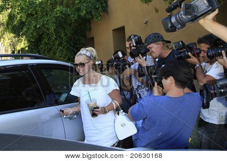 LOS ANGELES - 6 SEP: Britney Spears is out and about and surrounded by photographers in Los Angeles, California on September 6, 2007.
