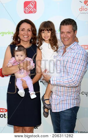 LOS ANGELES - SEP 23: Jenni Pulos, Georgia Nassos, Alianna Nassos, Jonathan Nassos - 6th Annual Red CARpet Safety Awareness Event at the Sony Pictures Studio on September 23, 2017 in Culver City, CA