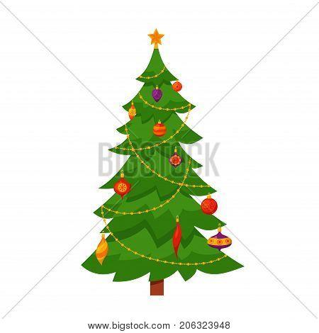 Colorful Christmas Tree Vector.Christmas Tree Vector Photo Free Trial Bigstock