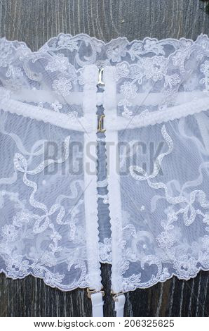 Bridal Lingerie. White Stocking Suspender. White Lace Fasion Underwear