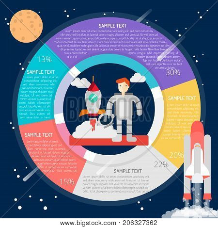 Spacesuit Infographic | set of vector diagram illustration use for education, research, science and much more.The set can be used for several purposes like: websites, print templates, presentation templates, and promotional materials.