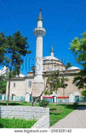 Juma-Jami (Crimean Tatar Cuma Cami) -the main mosque of the city Yevpatoria in Crimea.The mosque was founded in Gezlev in 1552 when Khan Devlet I Giray