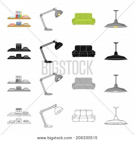 Office, supplies, equipment and other  icon in cartoon style.Shade, attributes, furniture icons in set collection.
