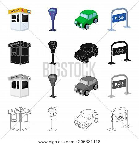 Tools, equipment, rules and other  icon in cartoon style.Sign, stop, place, icons in set collection.