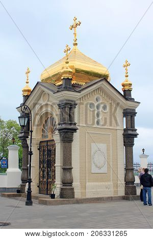 KIEV, UKRAINE - MAY 3, 2011: It is a chapel on the grave of the Kiev Governor-General A.P. Bezac.