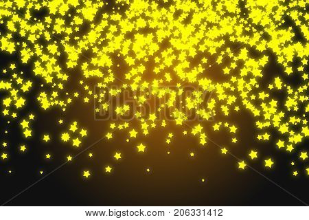 Gold star seamless pattern. Holiday background, seamless pattern with stars. Seamless pattern with stars. Star golden paper grunge seamless pattern on realistic texture