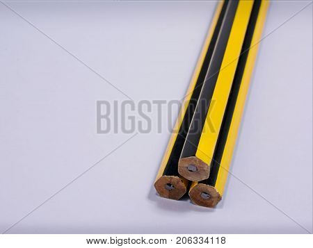 Typical Assortment of Pencils Ready to be sharpen