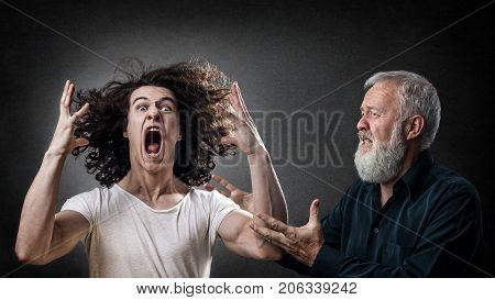 Dad looking to calm down his angry son