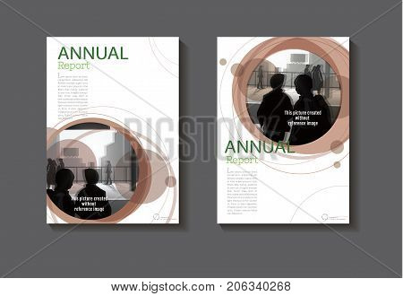 Brown design book cover modern cover abstract Brochure cover templateannual report magazine and flyer layout Vector a4