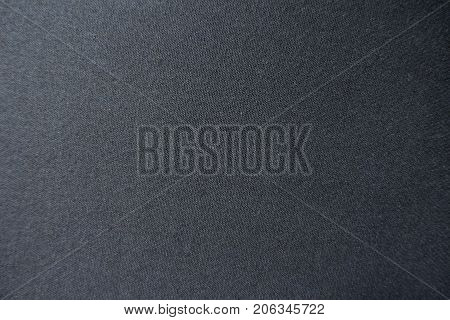 Surface Of Black Viscose Fabric From Above