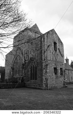 An external view of the Preceptory  building at Torphichen
