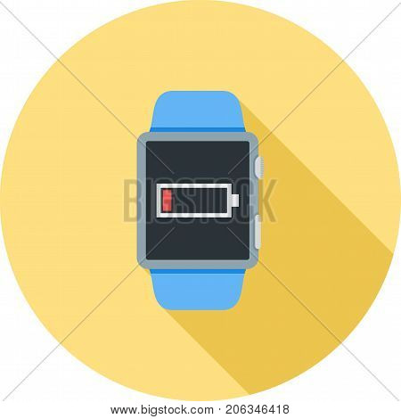 Battery, low, sign icon vector image. Can also be used for Smart Watch. Suitable for use on web apps, mobile apps and print media.
