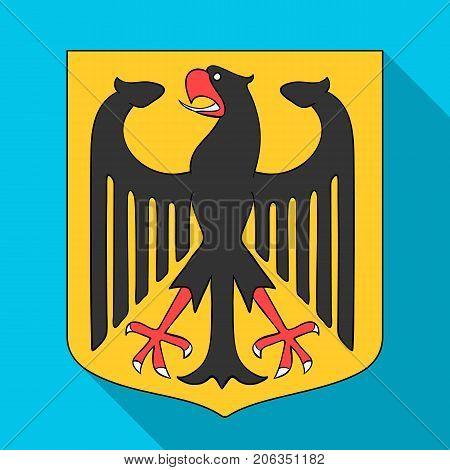 Emblem, single icon in flat style.Emblem, vector symbol stock illustration .