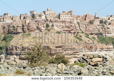 Red Rocks And Decorated Old Houses Of Kawkaban Fortified City