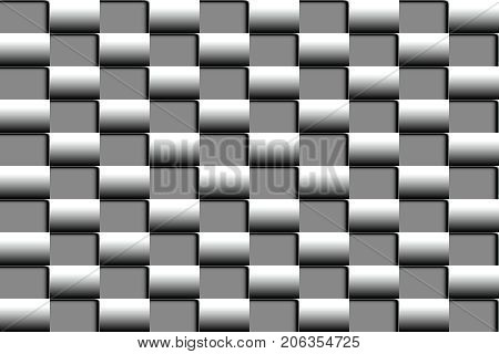 Volume of abstract seamless pattern in the form of a checkerboard in shades of gray for design of web banners and promotional leaflets