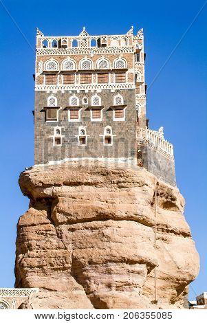 The House Tower Of Dar Al Hajar At Wadi Dhahr